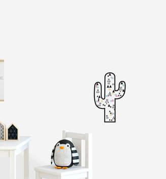 Little Sticker Boy Fun Cactus With Decorations Wall Sticker