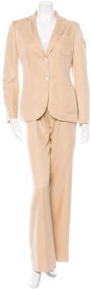 Loro Piana Silk Single-Breasted Pantsuit $175 thestylecure.com