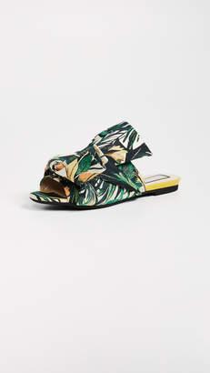 No.21 No. 21 Jacquard Knot Slide Sandals