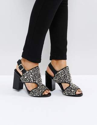 Jeffrey Campbell Starr Black Studded Heeled Sandals