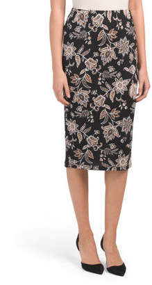Knit Midi Pencil Skirt