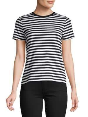 Lord & Taylor Petite Cotton Stretch Stripe Tee