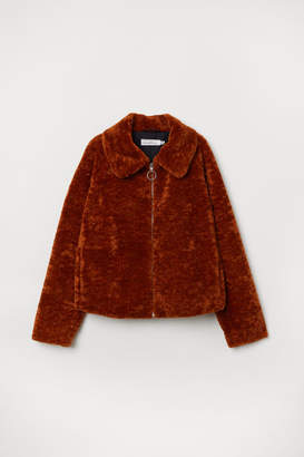 H&M Short Pile Jacket - Orange