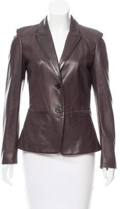Max Mara Structured Leather Jacket