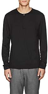 Theory Men's Jersey Henley - Silver