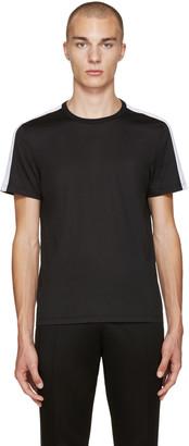 Burberry Black Sports Stripe T-Shirt $295 thestylecure.com
