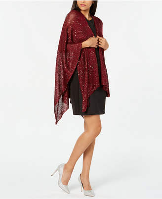 INC International Concepts I.N.C. Sequined Knit Evening Wrap, Created for Macy's