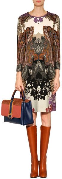 Etro Viscose-Blend Stretch Patterned Dress