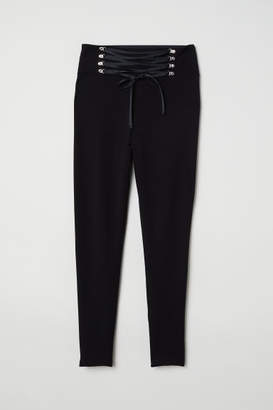 H&M H&M+ Leggings with Lacing - Black