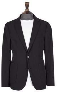 Burton Mens Big & Tall Black Comfort Stretch Blazer