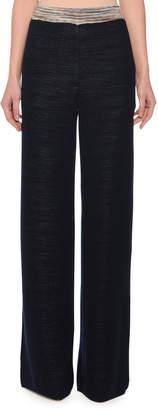 Missoni Wide-Leg Easy-Fit Wool-Blend Palazzo Pants