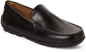 bd567d47a0 Geox Kids Boys) Black Fast Smooth Leather Loafers