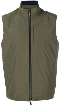 Canali zipped up vest