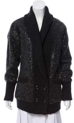 Diane von Furstenberg Zayde Sequined Jacket wool Zayde Sequined Jacket