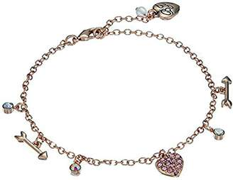 Betsey Johnson Women's Rose Gold Candy Heart Anklet
