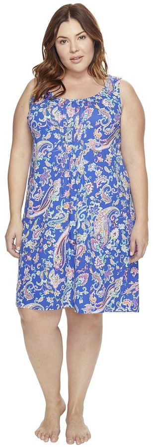 Lauren Ralph LaurenLAUREN Ralph Lauren - Plus Size Knit Short Gown Women's Pajama