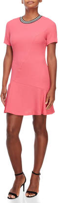 Sandro Pink Reva Drop Waist Dress