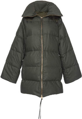 Agnona Reversible Long Puffer Jacket
