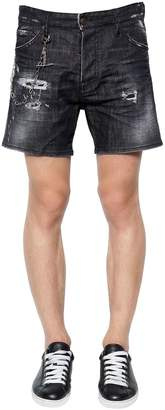 DSQUARED2 Squared Crotch Cotton Denim Shorts