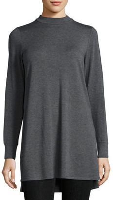 Eileen Fisher Lightweight Mock-Neck Long Tunic $238 thestylecure.com