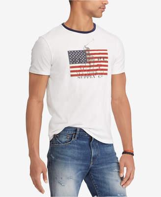 Polo Ralph Lauren Men's American Flag Print Custom Slim Fit T-Shirt