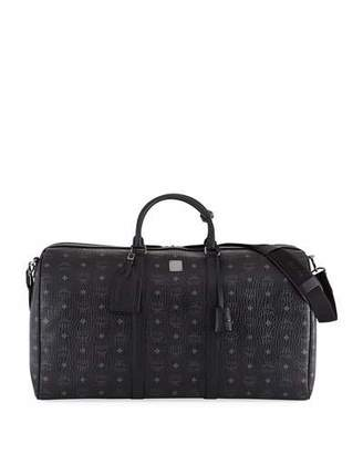 MCM Men's Traveler Visetos XL Weekender Duffel Bag