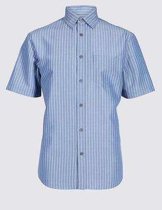 Marks and Spencer Modal Rich Striped Shirt with Pocket