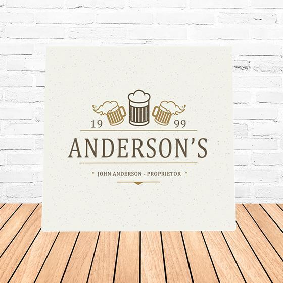 Personalized Beer Mugs Canvas Wall Art