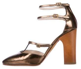 Chloé Leather Pointed-Toe Pumps