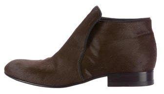 Céline Ponyhair Ankle Boots