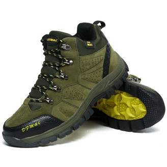 A-LING Mens Hiking Boots Trail Mountain Shoes Walking Travel Outdoor Boots Sneaker Plus (-)