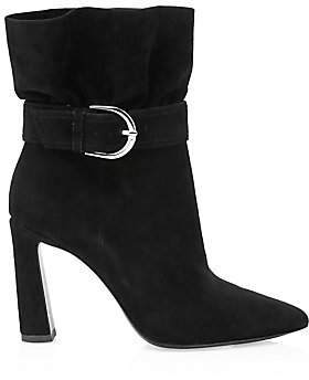 Joie Women's Alby Belted Suede Ankle Boots