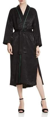 Maje Vasita Jacquard Long Kimono Jacket