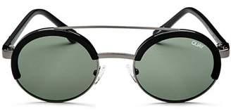 Quay Women's Come Around Brow Bar Round Sunglasses, 42mm