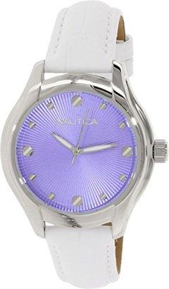 Nautica (ノーティカ) - ノーティカWomen 's n10507 mシルバーレザークォーツ腕時計