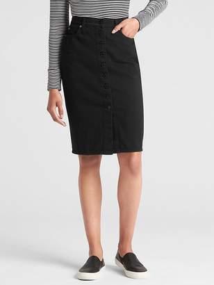 Gap High Rise Button-Front Denim Pencil Skirt