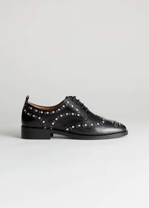 And other stories Rhinestone Stud Leather Brogues