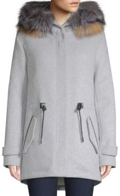 Mackage Alexa Double Face Wool Hooded Coat