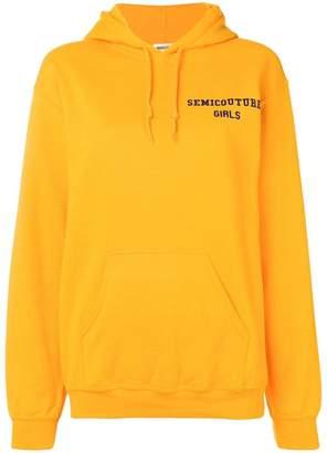 Semi-Couture Semicouture name print hoodie
