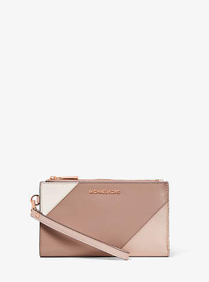 Michael Kors Adele Tri-Color Leather Smartphone Wallet