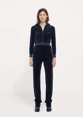 Vetements X Juicy Couture Velvet Tracksuit Navy