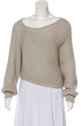 Alexander Wang Asymmetrical Cable Knit Sweater