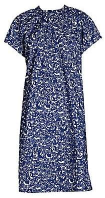 Marni Women's Short Sleeve Micro Pocket Poplin Dress