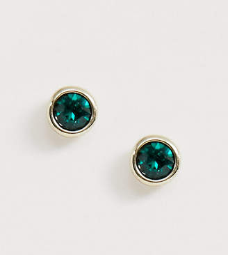 Ted Baker gold plated emerald swarovski crystal stud earrings