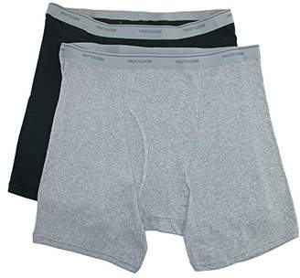 Fruit of the Loom Men's Big Size Boxer Brief Underwear (Pack of 2)