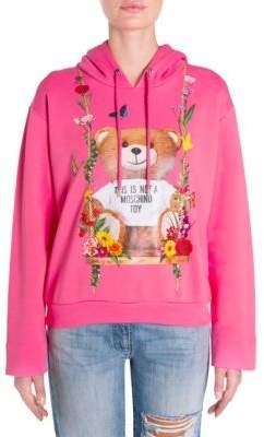 Moschino Bear Floral-Print Sweatshirt
