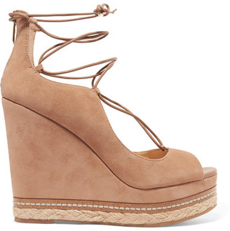 Sam Edelman - Harriet Suede Espadrille Wedge Sandals - Tan $140 thestylecure.com