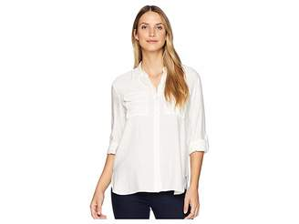 Vince Camuto Long Sleeve Flowy Rumple Relaxed Utility Shirt