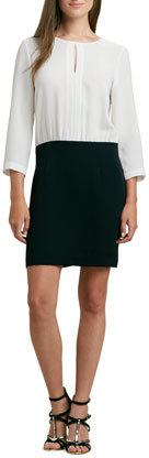 4.collective 3/4-Sleeve Colorblock Combo Dress
