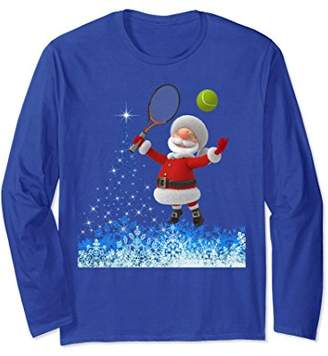 Christmas Tennis Shirt-Santa Christmas Tennis Lover T-Shirt